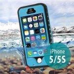 Pouzdro Redpepper Voděodolné Apple iPhone 5/5S/SE s podporou funkce Touch ID + poutko na ruku - tyrkysové