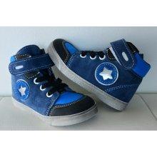 Jonap celoroční kožená obuv 050 velcro modrá hvězda