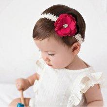 Beyou Čelenka pro miminka s květinkou červená