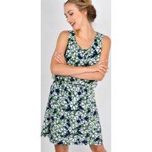 399 Kč London club. Basic šaty s bílými kvítky 85131 modrá a6e0a514d7