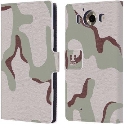Pouzdro HEAD CASE Microsoft Lumia 950 / LUMIA 950 DUAL SIM kamufláž poušť tři barvy