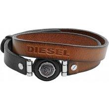 Diesel dvojitý kožený náramek DX1021040