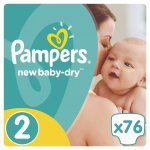 Pampers New Baby-Dry 2 mini 3-6 kg 76 ks