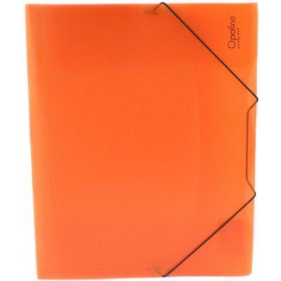 Karton P+P s gumou A4 Opaline oranžová 2-594