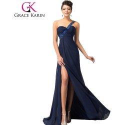 Grace Karin plesové šaty s rozparkem CL3186-2 modrá alternativy ... 740e713ff1