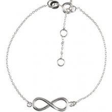 Eppi Stříbrný fashion náramek Infinity BR34263