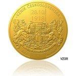 Česká mincovna Zlatá pětiuncová mince Vznik Československa stand 155,5 g