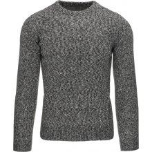 DSTREET Pánský šedý svetr (wx0788)