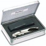 Pulltex Dárková sada PULLPARROT - vývrtka, kožené pouzdro - kovový box Krabička 18,5 x 12 x 4,5 cm