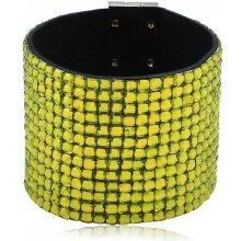 Shine bižuterní třpytivý barevný náramek zelený TN022