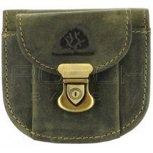 Greenburry Kožená mini peněženka 333-30 olivová