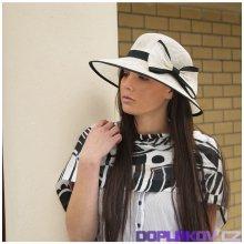 dd8f77db620 Karpet Modelový sinamay klobouk zdobený stuhou černá P008190