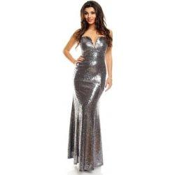 Dlouhé stříbrné plesové šaty od 1 899 Kč - Heureka.cz 3512f9b34f8