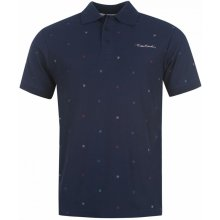 Pierre Cardin All Over Print Polo Shirt Mens navy