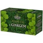 Grešík Čaje 4 světadílů Zelený čaj s ginkgem 20 nálevových sáčků