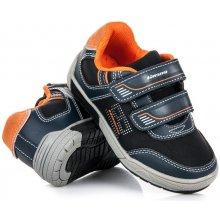 Dívčí dětské boty na suchý zip černé