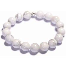 Lavaliere dámský korálkový náramek bílý howlite 01401