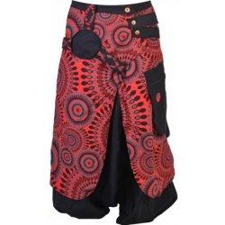 Sanu Babu Černo červené turecké kalhoty se sukní 6141827155