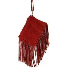 kabelka z brúsenej kože 65 Bordová