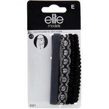 Čelenky na čelo 3ks Elite Models 3ks, textilní, šedá/černá