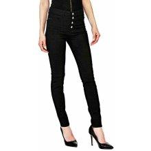 Guess dámské černé lesklé kalhoty 8988ccd788