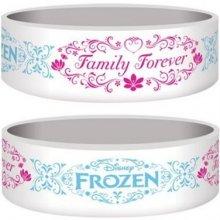 Náramek silikonový Frozen Family Forever bílý šířka WRJR67159 CurePink