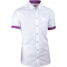 Assante Bílá pánská košile slim fit 100 % bavlna non iron 40010