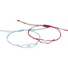 Klenota set dvou barevných náramků s perlou kln5184