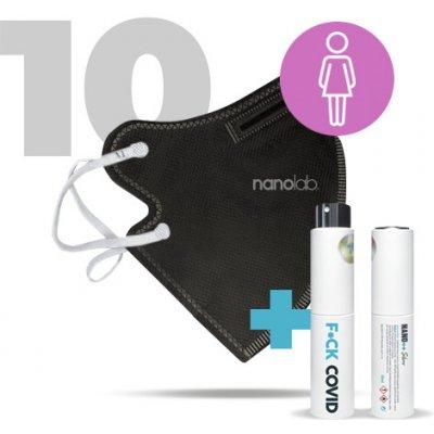 Nanolab nano respirátor FFP2 dámský černý 10 ks