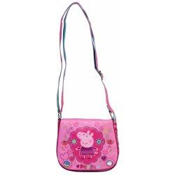 Azzar dětská kabelka Peppa Pig květiny polyester růžová