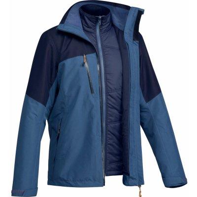 Forclaz Pánská turistická nepromokavá bunda 3v1 Travel 500 modrá