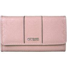 Guess Dámská peněženka Ware patent logo slim wallet Pink 6dd6312c21