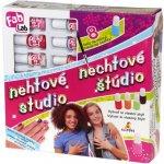 Mix hračky FAB LAB Nehtové studio kreativní set 8 laků s ozdobami v krabici