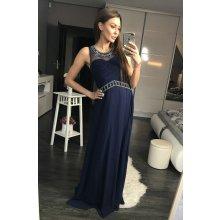 a78ee5e7746 Eva   Lola luxusní dlouhé plesové šaty tmavě modrá