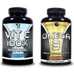 Bodyflex Vitamín C 100% natural 100 kapslí + Omega 3 200 kapslí