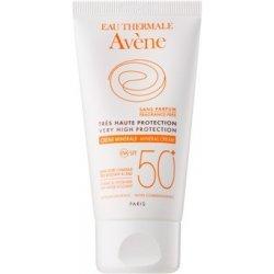 Avène Sun Mineral ochranný krém na obličej bez chemických filtrů a parfemace SPF50+ voděodolný 50 ml
