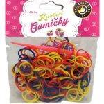 Loom Bands Pletací gumičky vícebarevné 200ks + háček