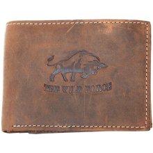 The wild force Kožená peněženka z přírodní pevné kůže s býkem