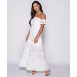 Dámské šaty Parisian letní maxi šaty Evita bílá e232331b53
