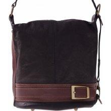 kabelka batůžek měkká přírodní kůže černá