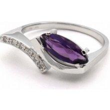 ebca3bea2 Diamantový prsten s fialovým ametystem J-20243-12