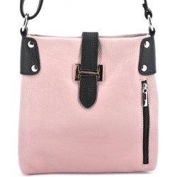 37960ea020 Arteddy dámská kožená kabelka crossbody růžová pudrová černá