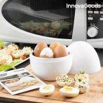 InnovaGoods Vařič na vajíčka do mikrovlnné trouby s recepty
