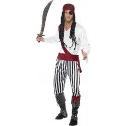 Pánský Pirát pruhovaný karnevalový kostým - Nejlepší Ceny.cz 8f6a21cc158