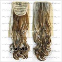Syntetický culík na prodloužení vlasů 55cm - barva F6P 613 - kudrnatý