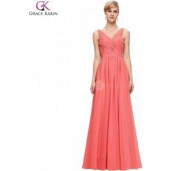 8e58f2bea323 Grace Karin korálově růžové společenské šaty dlouhé CL6010-2 Růžová ...