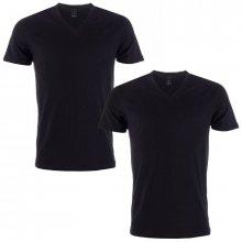 Levis Mens V Neck 2 Pack T Shirts Black