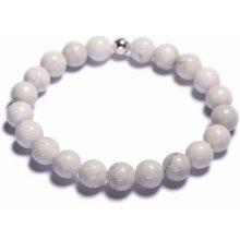 Lavaliere dámský korálkový náramek bílý howlite 02201