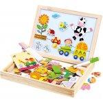 Bino Farma dřevěná puzzle s tabulkou
