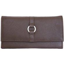 velmi kvalitní kožená peněženka HMT hnědá